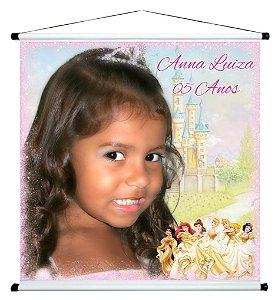 Banner personalizado 1 m x 1 m Princesas Disney 001