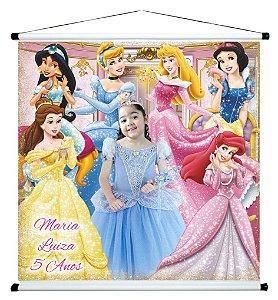 Banner personalizado 1 m x 1 m Princesas Disney 002