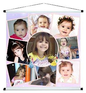 Banner personalizado 1 m x 1 m Princesas Disney 003