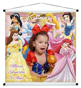 Banner personalizado 1 m x 1 m Princesas Disney 004