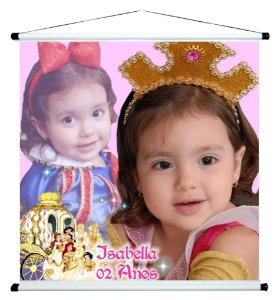 Banner personalizado 1 m x 1 m Princesas Disney 005