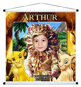 Banner personalizado 1 m x 1 m Rei Leão 001