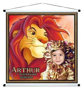 Banner personalizado 1 m x 1 m Rei Leão 003