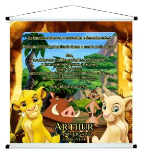 Banner personalizado 1 m x 1 m Rei Leão 004