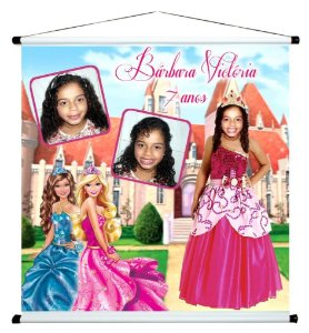 Banner personalizado 1 m x 1 m Barbie 001