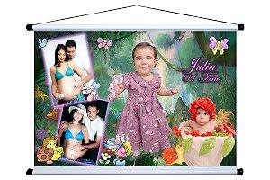 Banner personalizado 1,50 m x 1m Jardim Encantado 005