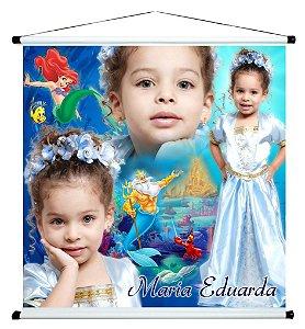 Banner personalizado 1 m x 1 m Pequena Sereia 002