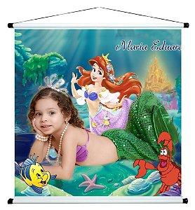 Banner personalizado 1 m x 1 m Pequena Sereia 003