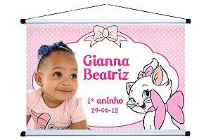 Banner personalizado 1,50 m x 1m Gatinha Marie 002