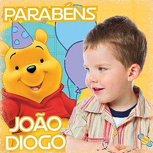 Painel personalizado 1 m x 1 m Ursinho Pooh 002
