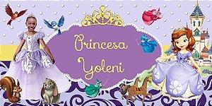 Painel personalizado 2 m x 1 m Princesa Sofia  001