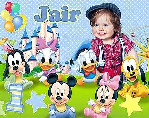Painel personalizado 1,50 m x 1.20 m Baby Disney  001