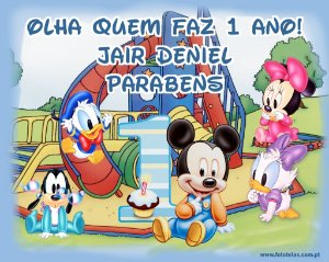 Painel personalizado 1,50 m x 1.20 m Baby Disney  003