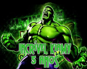 Painel personalizado 1,50 m x 1.20 m O Incrível Hulk  001