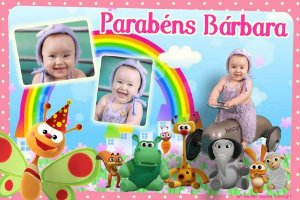 Painel personalizado 1,50 m x 1 m Baby TV