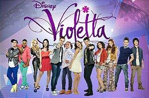 Painel personalizado 1,50 m x 1 m Violetta da Disney 002