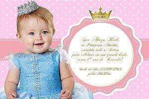 Convite digital personalizado Princesa 005