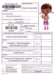 Convite digital personalizado Doutora Brinquedos 009
