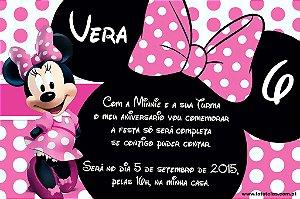 Convite digital personalizado Minnie 014