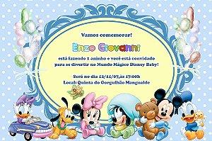 Convite digital personalizado Baby Disney 002