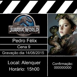 Convite claquete Mundo Jurássico 001