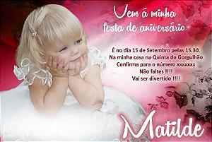 Convite digital personalizado aniversário sem tema 025
