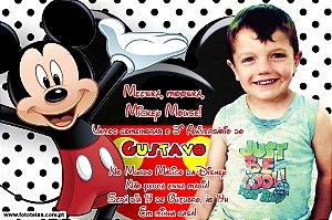 Convite digital personalizado Mickey Mouse 007
