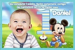 Convite digital personalizado Baby Disney 005