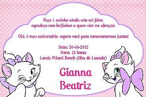 Convite digital personalizado Gatinha Marie 005