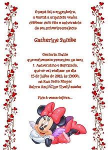 Convite digital personalizado Minnie 015