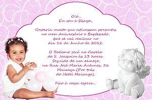 Convite digital personalizado Anjo 016