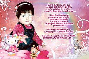 Convite digital personalizado Hello Kitty 017
