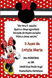 Convite digital personalizado Minnie 016