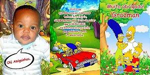 Convite sanfonado personalizado Simpsons 001
