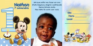 Convite sanfonado personalizado Baby Disney 006
