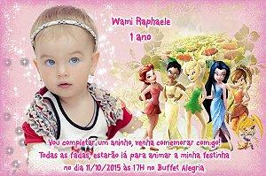 Convite digital personalizado Fadas Disney 015