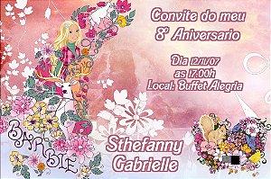 Convite digital personalizado Barbie 049