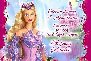 Convite digital personalizado Barbie 050