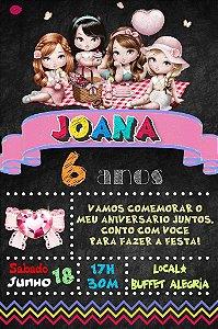 Convite digital quadro (Chalkboard) Jolie da Tilibra 096