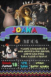 Convite digital quadro (Chalkboard) Madagáscar 104