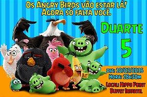 Convite digital personalizado Angry Birds 017