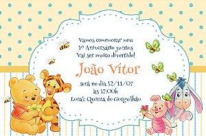 Convite digital personalizado Baby Pooh 001