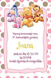 Convite digital personalizado Baby Pooh 003