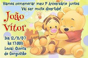 Convite digital personalizado Baby Pooh 007