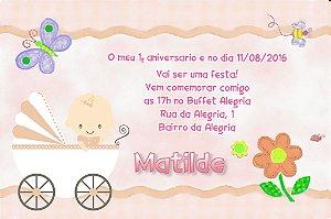 Convite digital personalizado Primeiro Aniversário 007