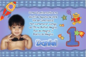 Convite digital personalizado Primeiro Aniversário 008