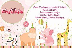 Convite digital personalizado Primeiro Aniversário 012
