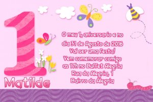 Convite digital personalizado Primeiro Aniversário 014