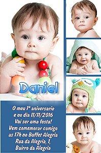 Convite digital personalizado Primeiro Aniversário 027