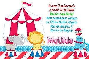 Convite digital personalizado Primeiro Aniversário 030